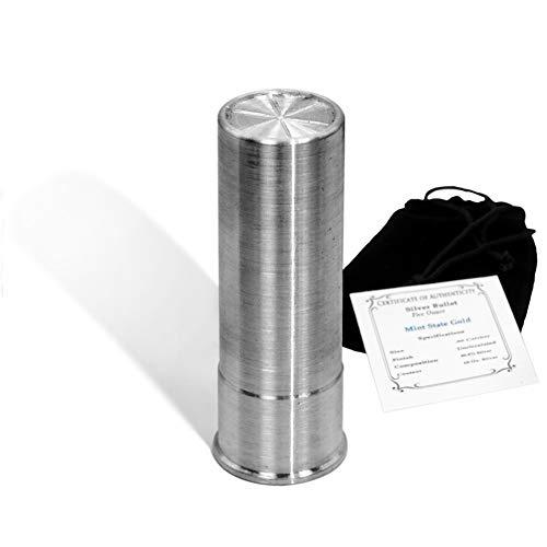 Bala de plata – Los tamaños incluyen calibre 45. Calibre 308, calibre 12, concha de escopeta de calibre 50, 20 mm y carcasa de 30 mm (1 – 100 oz puro .999 plata)