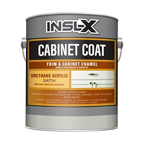 INSL-X CC550109A-01 Cabinet Coat Enamel, Satin Sheen Paint, 1 Gallon, White