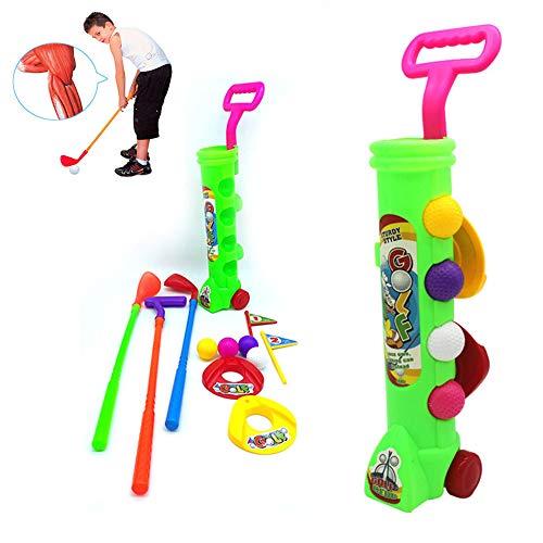 LITI Spielzeug Für Draußen Golfschläger Set Gartenspielzeug Für Kinder Enthält 4 Golfbälle 3 Schläger Outdoor Spielzeug Kinder 3 4 5 Jähren Mädchen Junge