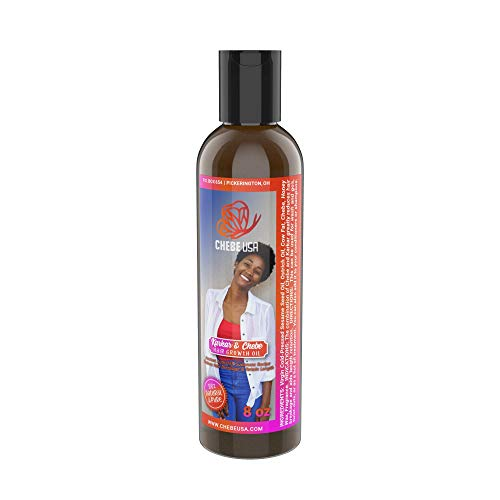 Uhuru Naturals Chebe Karkar Oil - Organic Conditioner w/Virgin Cold Pressed Sesame Seed & Ostrich Oil, Chebe & Honey Wax...