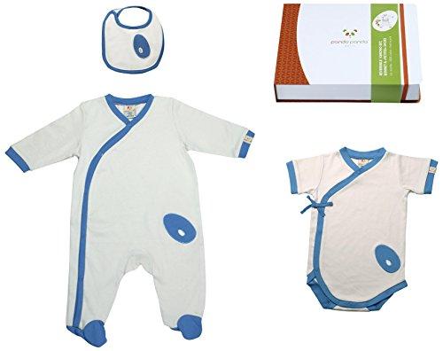 Pandi Panda 1302-005-09 Mic Mac Pantalon d'éveil avec chaussons Taille 74/80 6-12 mois