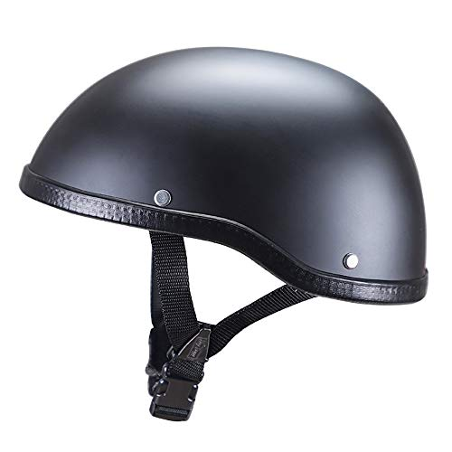 TKTTBD Motorradhelm, Halbhelme, Black Jet-Helm Braincap Bobber Halbschalen · Mofa Motorrad-Helm Chopper Scooter-Helm Roller Retro