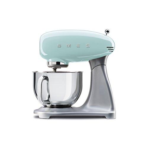 SMEG Elektrische Multifunktions-Küchenmaschine SMF01PGEU, 800, Aluminum, pastellgrün