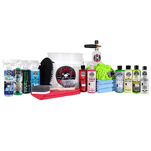 Chemical Guys HOL169MAX 20-Piece Arsenal Builder Wash Kit with TORQ Foam Cannon, Bucket and (10) 16 oz Care Products (Gift for Car & Truck Lovers, Dads and DIYers)