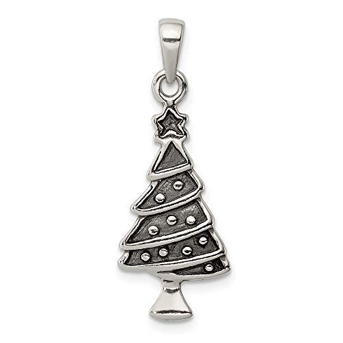 Saris and Things 925 sterlingsilber Weihnachtsbaum Shaped anhänger