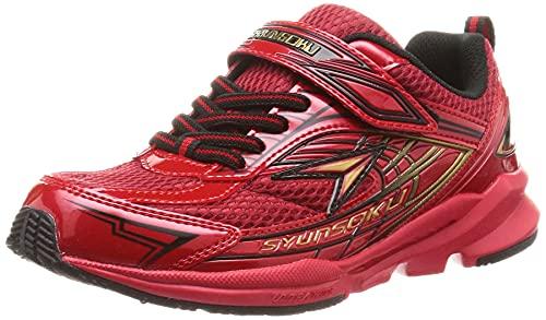 [シュンソク] スニーカー 運動靴 幅広 軽量 16~25cm 3E キッズ 男の子 SJJ 4410 9240 レッド/レッド 20.0 cm