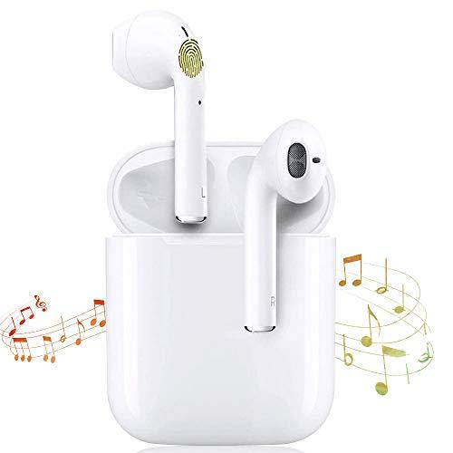 Auriculares Bluetooth i12 TWS Sonido Estéreo 3D Control Táctil Pop-Ups Auto Pairing 24 Horas de...
