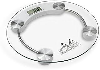 Babody Báscula digital de peso para el baño para personas, escala de grasa corporal de 400 libras de vidrio templado con pantalla LCD de 4 dígitos