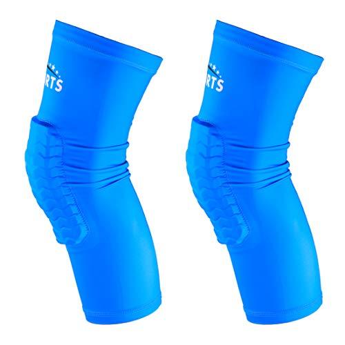 VSPORTS Rodilleras de Compresión Para Baloncesto Voleibol Béisbol Lucha Libre Senderismo Fútbol Voleibol Correr Tenis 1 Par Azul Large