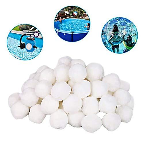 HUAH Pool-Filterbälle, Pool-Filterbälle für Pool Recycelbar Aquarium Filterreinigung für Pool Aquarium Fish Tanksand Filter,500g