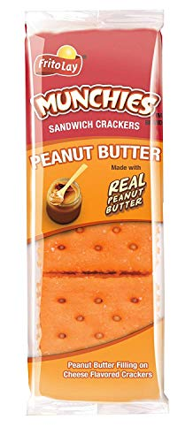 Munchies Peanut Butter on Cheese Crackers, 1.42 Ounce (Pack of 32)