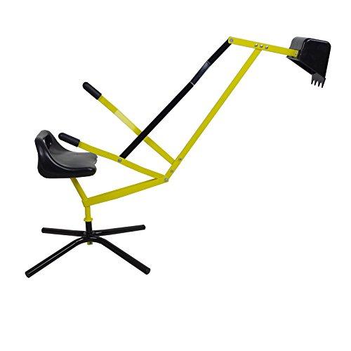 Unbekannt Sitzbagger Sandkastenbagger Kinderbagger Sandkasten Bagger Metall draußen 360°