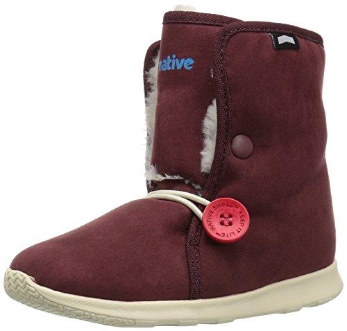 JACKSHIBO Girls Boys Outdoor Waterproof Winter Snow Boots(Toddler/Little Kid/Big Kid) Dark Red12.5 M US Little Kid