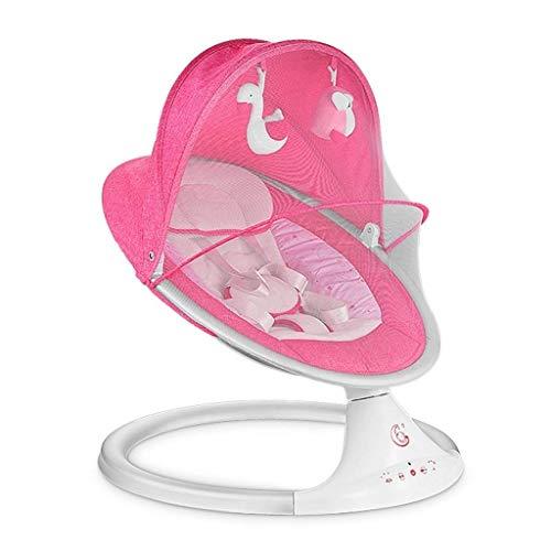 QIYUE Babyschaukel Cradle, Automatischer beweglicher Baby-Rocker Swing-Stuhl mit Musik for Jungen und Mädchen