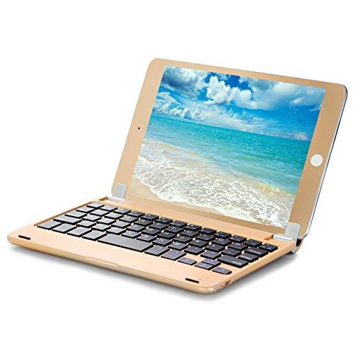 iPad Mini Bluetooth Keyboard with Matching Metalic Screen Protectory - Gold