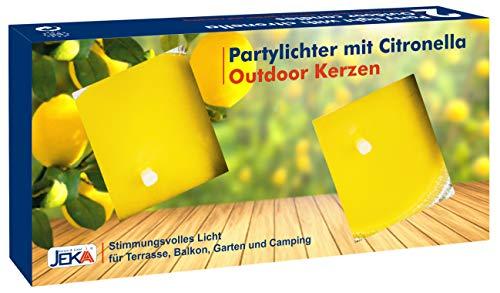 10 pezzi luci per feste con citronella – Portacandela – Candela per esterni in confezione da 2 pezzi giallo