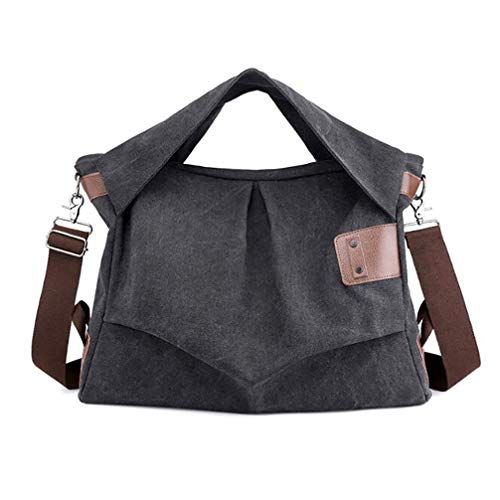 Toporchid Sac à bandoulière pour Femmes Sac à Main Multi Pocket Casual Messenger Bag Grand Sac pour Un Voyage Quotidien (Noir)