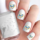 Autism Awareness Superman Style Logo (Clear Water-Slide Nail Decals)