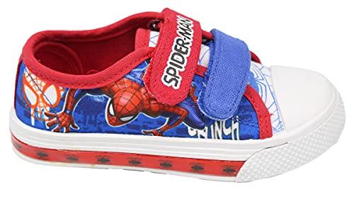 Marvel - Zapatillas de Spiderman con luces LED para niño 24 25...