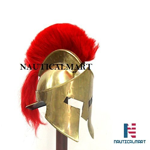 NauticalMart Römische Rüstung Kostüm Mittelalter römischer Spartanischer Helm König 300 Leonidas Rüstung mit roter Pflaume