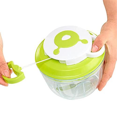 GreensKon Cortador de Verduras Picadora de Verduras Manual, Picadora de Alimentos para Picar Verduras,Carne,Hierbas,Cebolla,Ajo,Ensalada (1000ml)