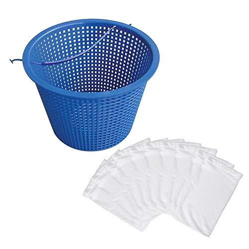 Hearthrousy Pool Skimmer Korb Pool Skimmerkorb für Skimmer Filterkorb mit optionalen Socken Pool Skimmerkorb zur Schwimmbadreinigung