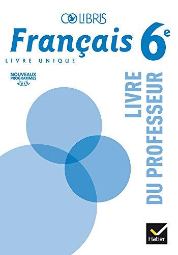 Colibris Francais 6e Ed 2016 Livre Du Professeur