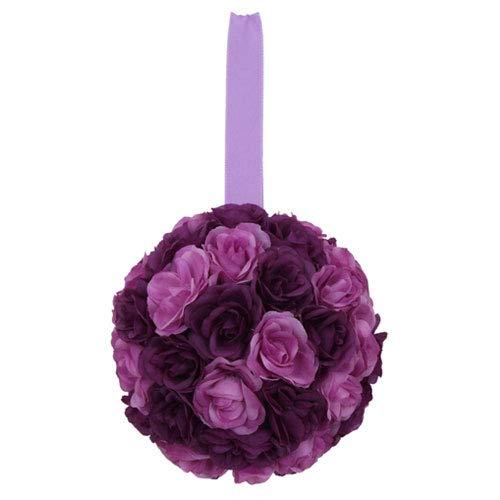 Euro Flora künstliche Rosenkugel 10 cm (lila)