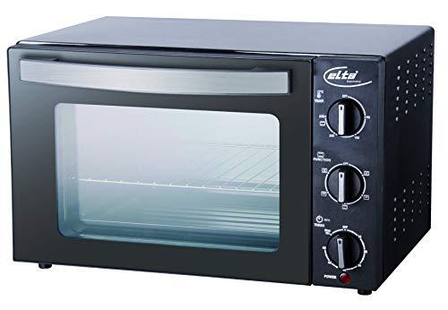 Elta Mini Backofen 20L MBO-1500.1 (Doppeltes GS-Sicherheitsglas und Thermoisoliert, 1500Watt, Oberhitze, Unterhitze,Ober- und Unterhitze, 60 Min Timer)