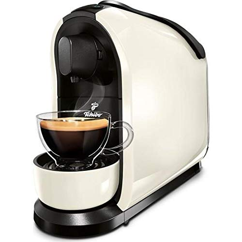 Tchibo Cafissimo probità di capsule macchina per il Caffè, Caffè Espresso e Caffè Crema, bianco e grigio
