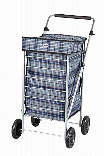 Hoppa Vier-Rad-Einkaufswagen Einkaufstrolley Einkaufsroller 63L (Marine)