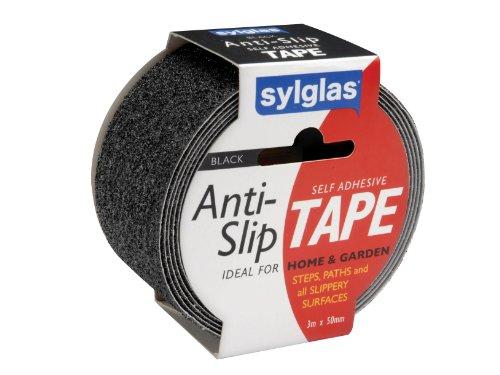 Sylglas - Cinta adhesiva antideslizante (50 mm x 3 m), color negro
