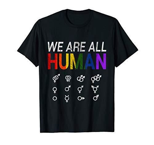 Wir Sind Alle Menschen T-Shirt I Gay Pride LGBT Geschenk