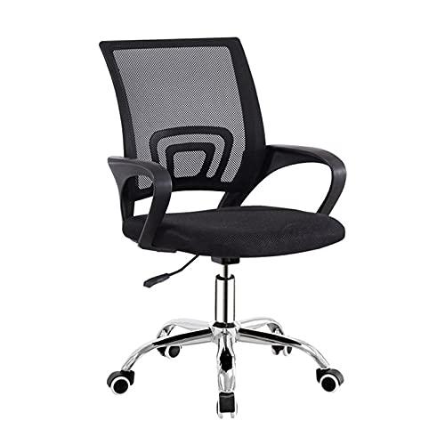 VANGALOO Silla de oficina, silla de escritorio, altura ajustable, silla de ordenador, silla de oficina para oficina, despacho, silla clásica para ordenador, color azul y negro
