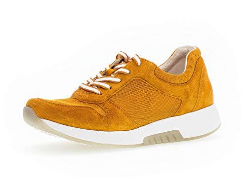 Gabor Damen Sneaker, Frauen Low-Top Sneaker,Optifit- Wechselfußbett, Damen Frauen weibliche Lady Ladies feminin elegant Women,orange,38.5 EU / 5.5 UK