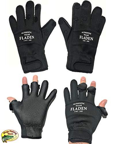 Fladen Fishing Split-Finger Neopren Angel Handschuhe - Thermo & Outdoor Anglerhandschuhe - Angeln (XXL)