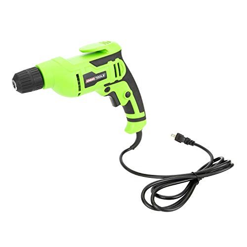 OEMTOOLS 24669 3/8 Inch Corded Drill, Corded Variable Speed Drill, Power Drill Compact Ergonomic Design, Powerful Motor, Keyless Tool, Heavy Duty Drill Driver