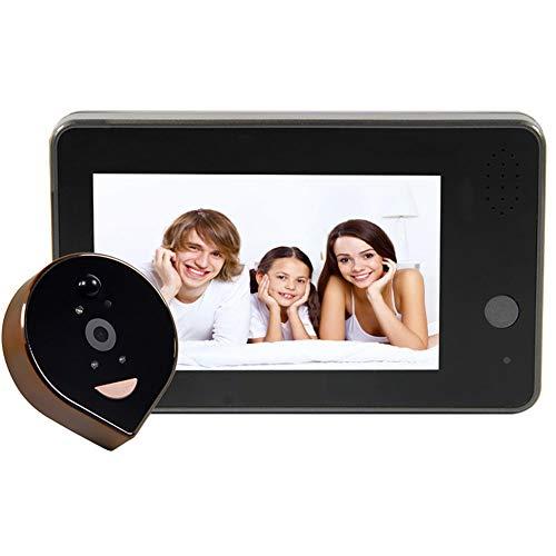 HEN'GMF Farb Video Gegensprechanlage Türsprechanlage Monitor Klingel Sprechanlage, Akkubetrieben, Zugriff Der Video Klingel Per Smartphone App.