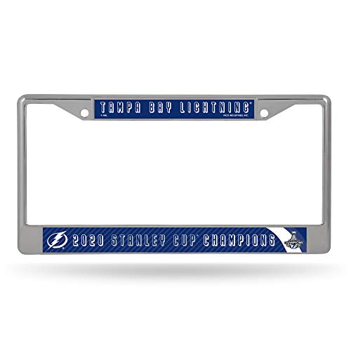 Rico Industries NHL Tampa Bay Lightning Unisex Standard Chrome License Plate Frame, Blue, 6 x 12.25-inches (FC92SC20)