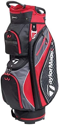 TaylorMade PRO Cart 6.0 - Borsa da Golf, Uomo, M71075, Black/Red, Taglia Unica