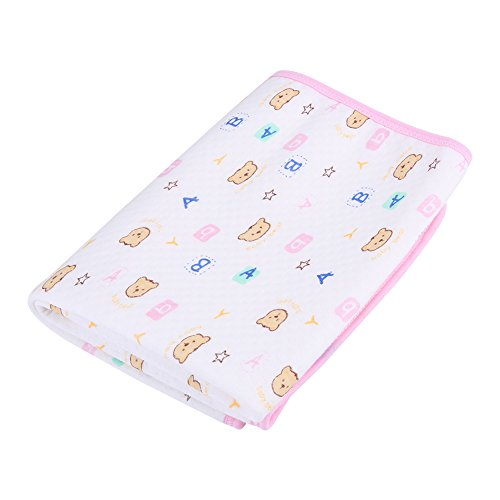 Zerodis Fasciatoio Impermeabile Cotone Urina Tappetino Pannolino Copri Materasso per Neonati Bambini Bebè Adulti(Rosa M)
