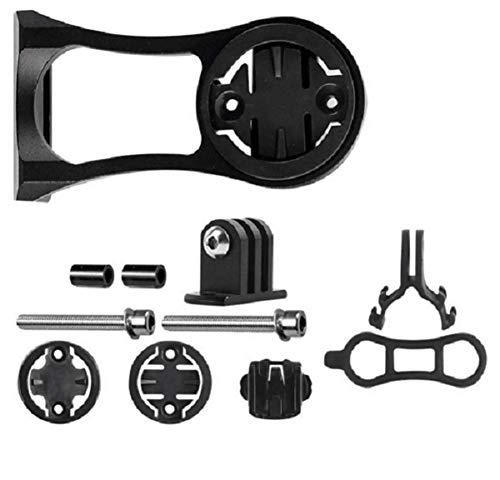 kfukcdz Geagodelia Compatible Support Double Usage pour Barre de Guidon de Vélo pour Gopro Compteur GPS Garmin Edge 200 500 510 520 800 810 820 1000 (Noir)