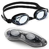 Adepoy Occhialini da Nuoto, occhialini da Nuoto Regolabili HD Impermeabili antiappannanti Resistenti ai Raggi UV con Ampio Campo visivo per Uomini Donne Adulti