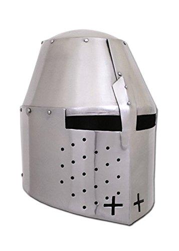 Battle-Merchant Grand casque Pembridge pour env. 1370 - Acier de 1,2 mm - Convient pour la balançoire - Casque de tournoi - Moyen-Âge