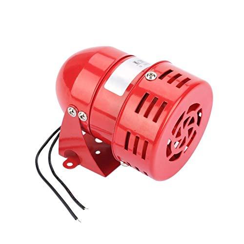 Akozon MS-190 Alarma de motor 220V Red Sonido continuo Sirena del zumbador 120DB Motor Viento Alarma Mini alarma de motor de metal rojo Sonido industrial eléctrico Protección contra el robo