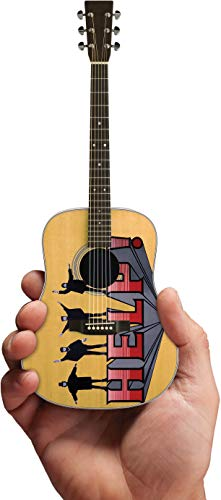 Axe Heaven: Beatles Help Fab Four Tribute Miniature Guitar M