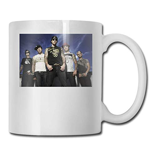 N\A Avenged Sevenfold Present In The World Taza Divertida de café o té Taza de Bebida con Personalidad de 11 oz (330 ml)