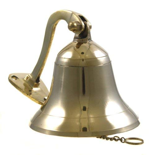 """Brass Polished Ship Bell 4"""" Nautical Decoration"""