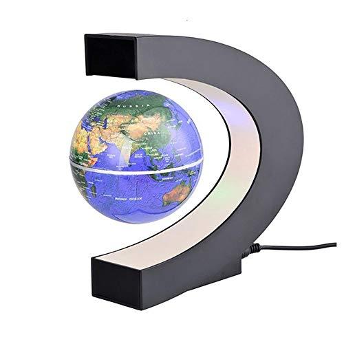 Levitación magnética LED flotante Mapa del mundo Globo en forma de C Luz antigravedad Bola magnética Cumpleaños de Navidad Decoración del hogar Regalo