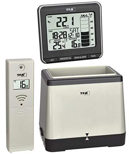 Indicador de Lluvia de Lluvia inalámbrico Monitor de termómetro Rainman TFA 47.3004